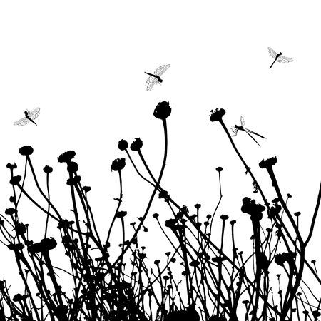 rietkraag: echt gras silhouette - twee kleuren