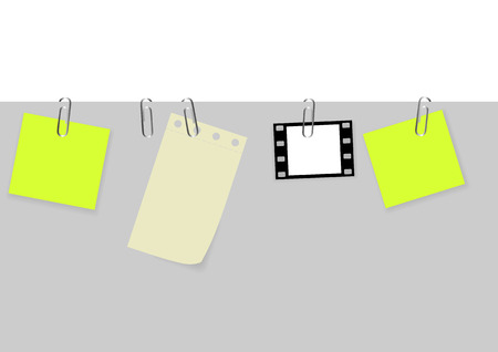 set of tags with paperclips Vector