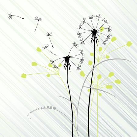 ostrożeń: abstrakcyjna tÅ'a z dandelions