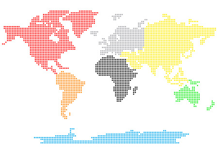 dotted world map: Dotted world map  Illustration