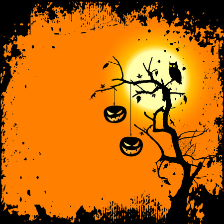 halloween background with place for your text Stock Vector - 7713214