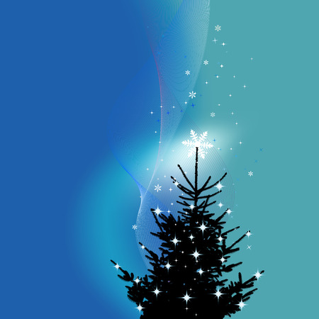 Winter background, christmas tree Stock Vector - 7991713