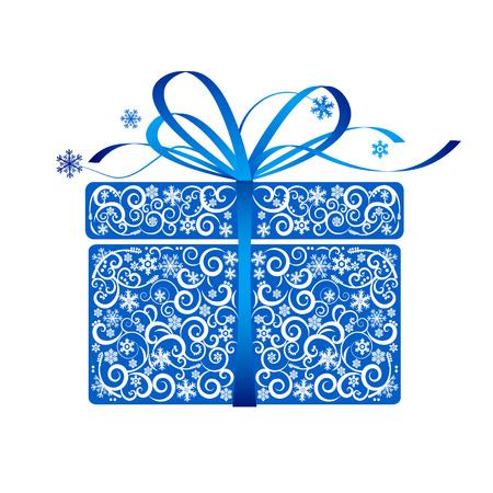 Stylized gift - vector Stock Vector - 8240938