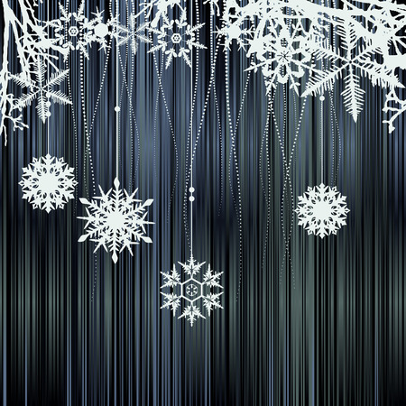 Winter background with a space for your text Vector