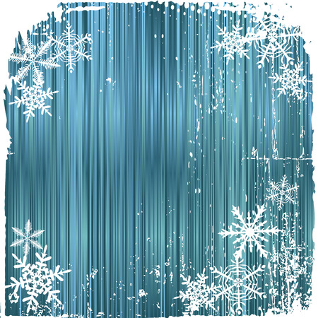 Winter background, snowflakes - illustration Vector
