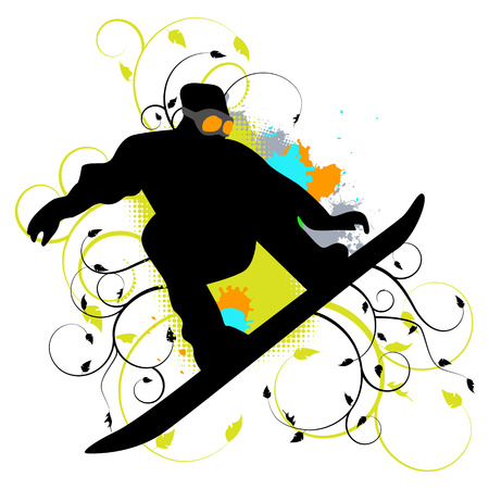 collection of snowboard, skiers Stock Vector - 8466081