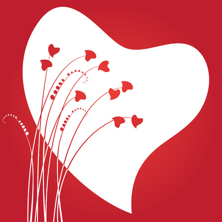 Valentines day abstract with hearts Vector