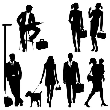 global team - silhouettes Stock Vector - 9044755