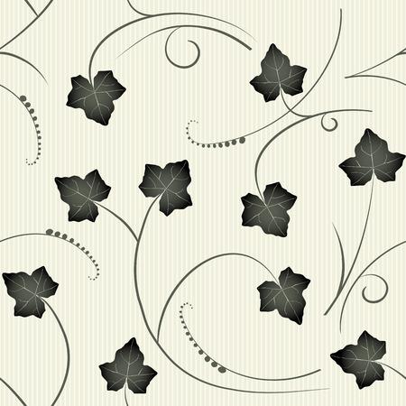 ivy vine: ivy - seamless pattern Illustration