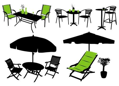 siluetas de vector de muebles