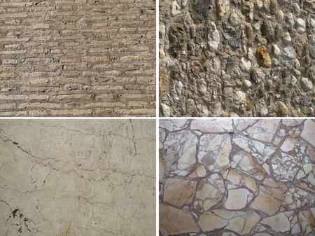 Set of stone textures photo