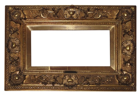 old antique frame , color photo with a cliping path