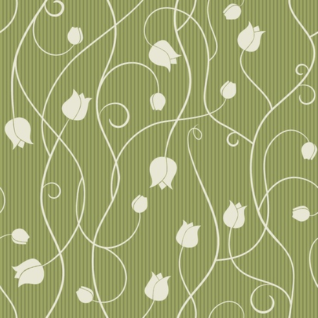 tulip - seamless pattern Vector