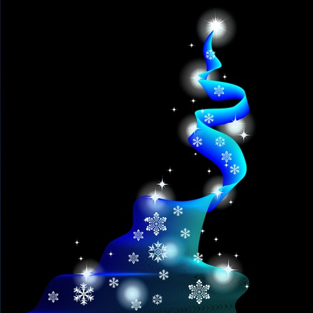 Christmas background, abstract tree Vector