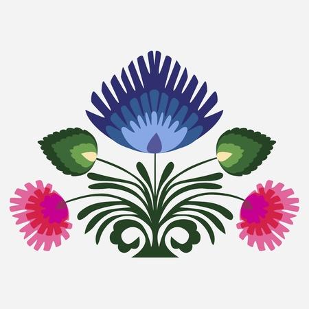 Floral background, ornement, des feuilles et des fleurs