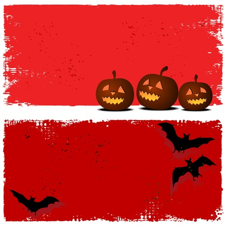 harvest moon: Halloween background with moon and bats
