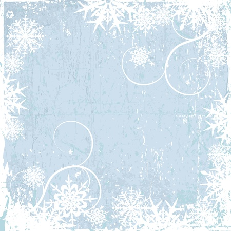 Winter background, snowflakes Vector