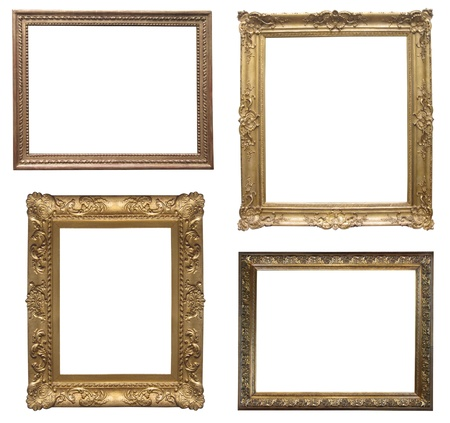 old antique frame - set of four photos                             photo