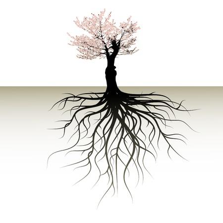 blooming boom met een ruimte voor een tekst