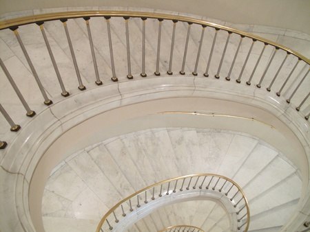 Granite lighthouse staircase going down, Royal castle - Warsaw