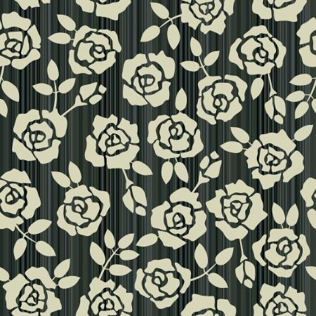 Retro bloemen naadloze achtergrond met rozen