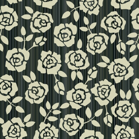 Retro floral seamless background with roses