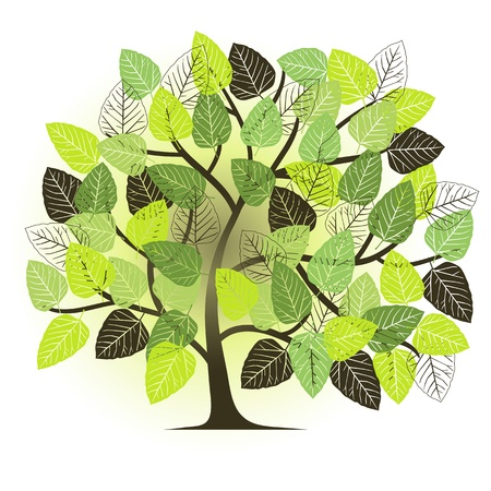 spring garden - abstract tree Vector