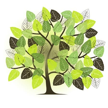 spring garden - abstract tree Stock Vector - 12495659