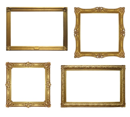 complement: Old antique frame - set of four photos