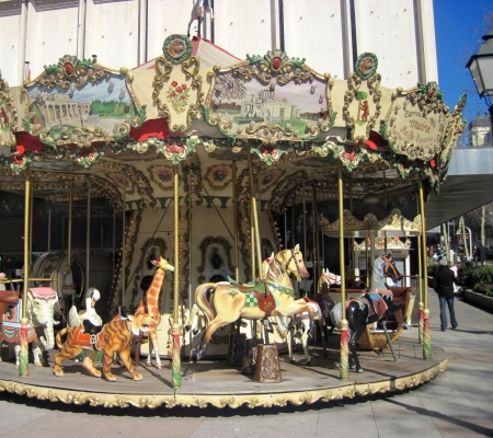 An old fashioned carousel photo