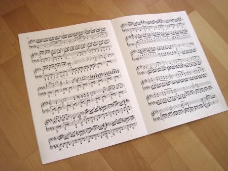 partition musique: Fichier des horizons musicaux, des notes de musique Banque d'images