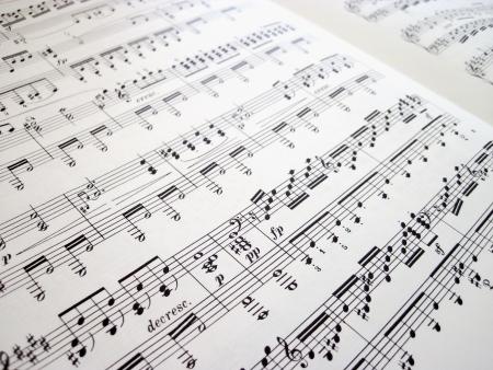 Bestand voor muzikale achtergronden, muziek noten