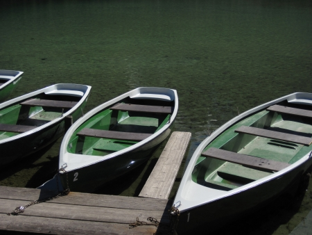 small boat: Pleasure boats at lake  Germany