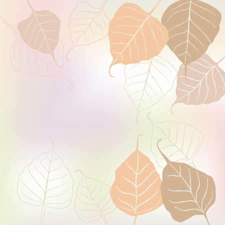 scroll shape: Leaves, spring - vector background