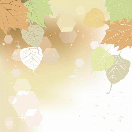 leaflets: Leaf, autumn - vector background