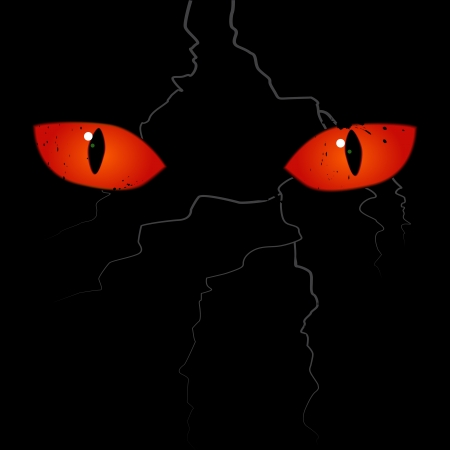 Scary eyes on the black background Stock Vector - 15781980