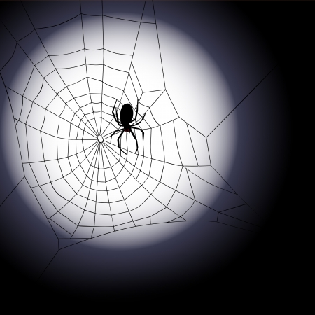 cobwebby: Halloween background - Vector illustration of spiders web