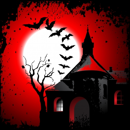 Halloween background with the scary house Stock Vector - 15817574
