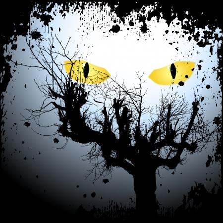 Halloween achtergrond met de enge ogen