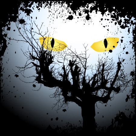 Halloween Hintergrund mit den furchtsamen Augen Standard-Bild - 15817575