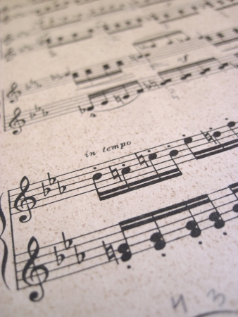 File for musical backgrounds, music notes