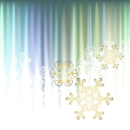 Winter background, snowflakes - vector illustration Stock Vector - 16170811