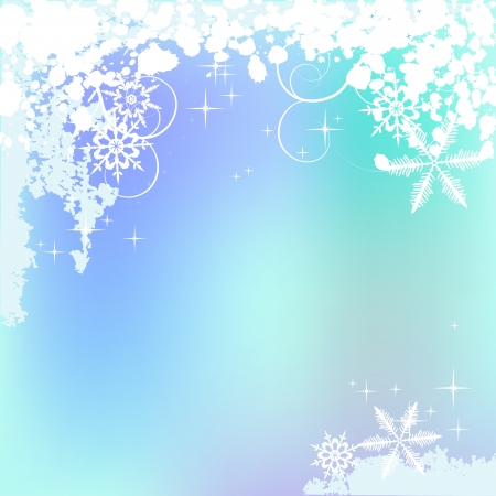Winter background, snowflakes - vector illustration Stock Vector - 16170813