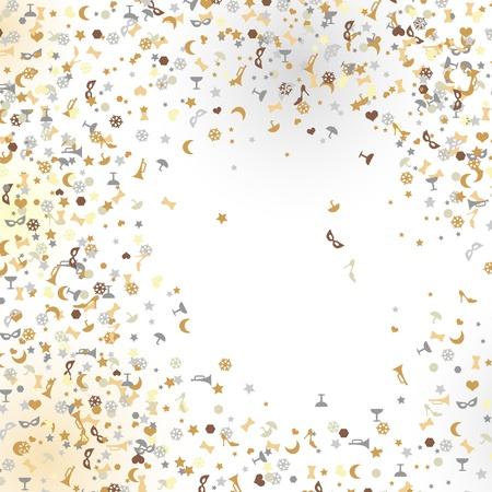 confetti, New Year Stock Vector - 16478352