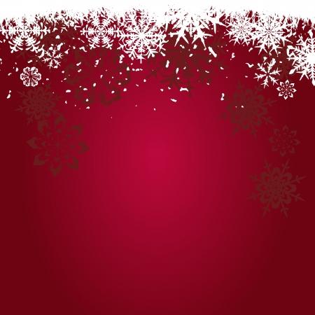 Winter achtergrond, sneeuwvlokken - vector illustratie Stock Illustratie
