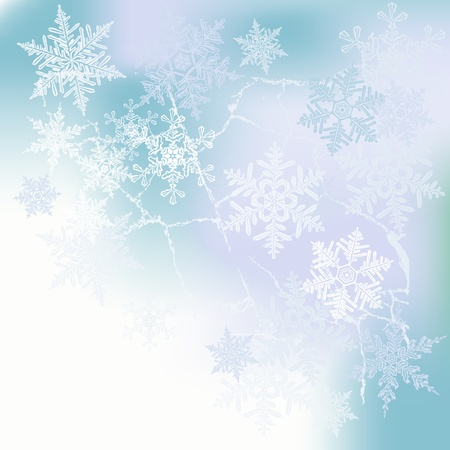 Winter background, snowflakes - vector Stock Vector - 16478350