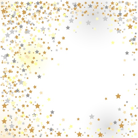 confetti, New Year Vector Illustration