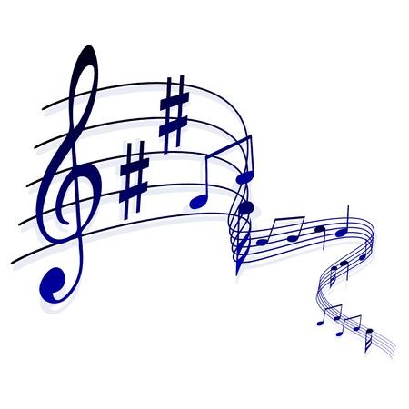 Abstracte muzikale achtergrond, notities Stock Illustratie