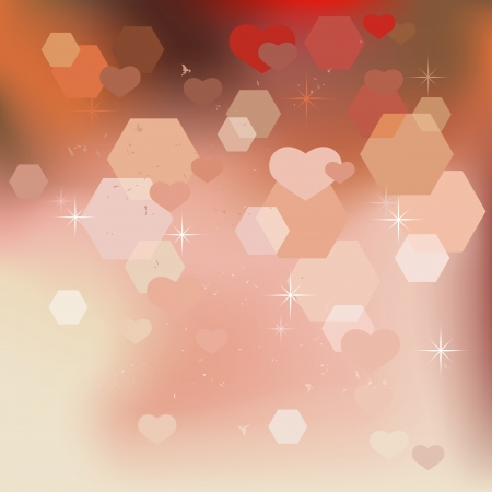 Abstract valentine background with hearts - vector Stock Vector - 17084497
