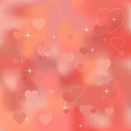 Abstract valentine background with hearts - vector Stock Vector - 17084492
